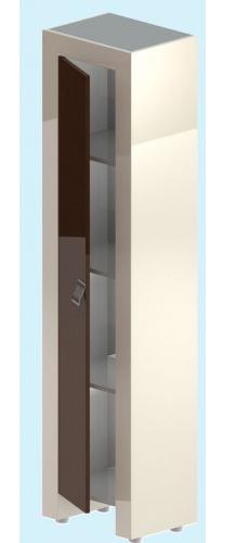 Лотус ЦВ RAL ЛевыйМебель для ванной<br>Пенал Лотус ЦВ RAL.  В комплекте: полки, фасад   (петли с плавным  закрыванием), комплект  крепежа. Возможно исполнение в цветах по раскладке Ral.<br>