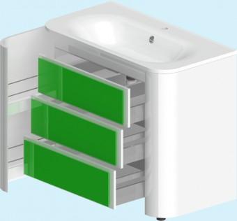 Прима БелаяМебель для ванной<br>Тумба Прима 022099. В комплекте: фасады, фронтальные и боковые ящики полного выдвижения с доводчиком, ножки, крепёжный комплект.<br>