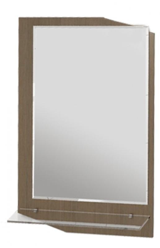Callisto 600 мм Clt600.11 МоккоМебель для ванной<br>Зеркало со стеклополкой Callisto 600 мм Clt600.11<br>