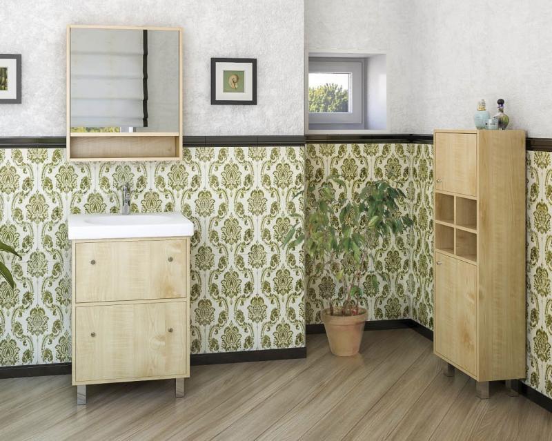 Punto 60 Клен медовыйМебель для ванной<br>Тумба с раковиной Punto 600 мм Pnt600.91<br>
