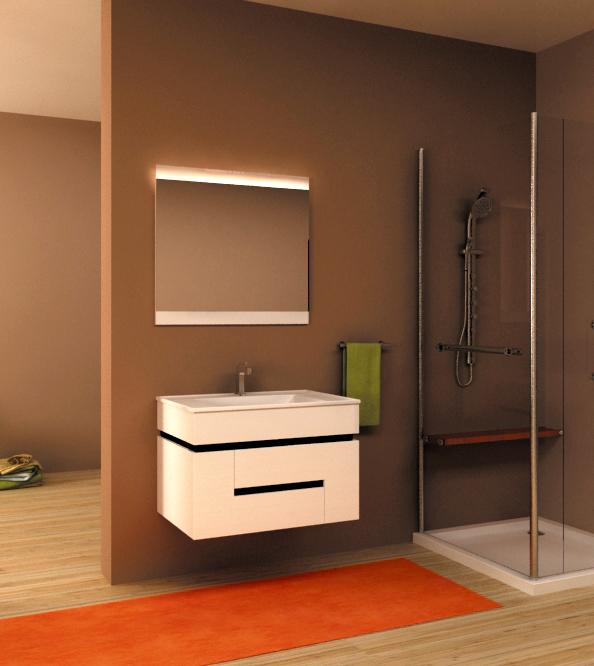 Tagliare 6 T6.800.91 Раковина - жемчугМебель для ванной<br>Тумба с раковиной Tagliare 6 T6.800.91 и подсветкой.<br>