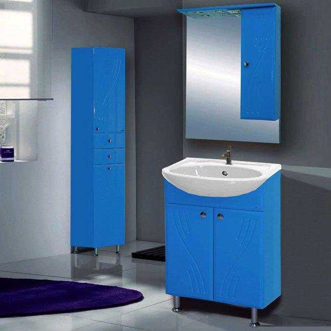 Стиль-60  КраснаяМебель для ванной<br>Тумба прямая напольная Misty Стиль-60 на ножках с дверками в комплекте с керамической раковиной. Цвет красный.<br>