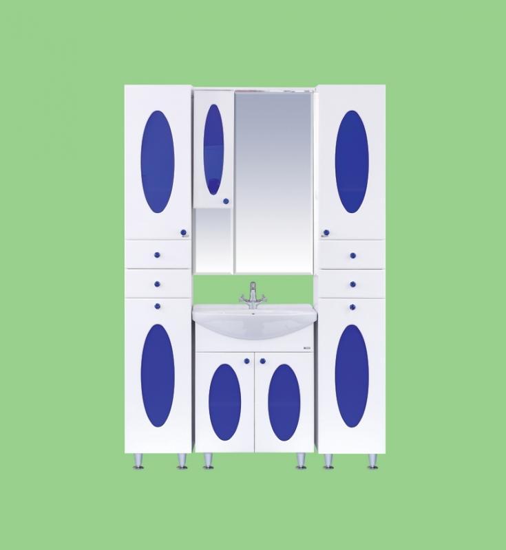 Сидней-105 Белая/черное стеклоМебель для ванной<br>Тумба под раковину напольная Misty Сидней-105  с бельевой корзиной в комплекте с раковиной. Цвет белый с черным стеклом.<br>