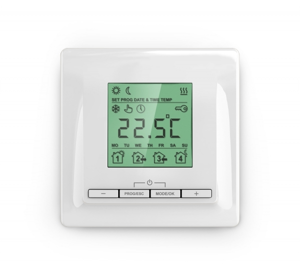 ТР 520 ТР 520 кремовыйТеплые полы<br>Основная идея программного обеспечения терморегулятора ТР 520 – экономия электроэнергии и удобный интерфейс управления.<br>
