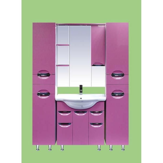 Жасмин-75 КраснаяМебель для ванной<br>Тумба под раковину Misty Жасмин-75 напольная с раковиной в комплекте. Цвет красный.<br>