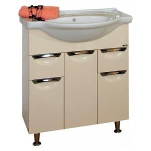 Жасмин-76 ЧернаяМебель для ванной<br>Тумба под раковину напольная Misty Жасмин-76 с 2 ящиками с раковиной в комплекте. Цвет черный.<br>
