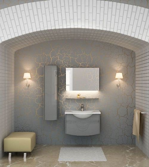 Melato Mlt800.91 RAL белый глянецМебель для ванной<br>Тумба с раковиной Valente Melato Mlt800.91<br>