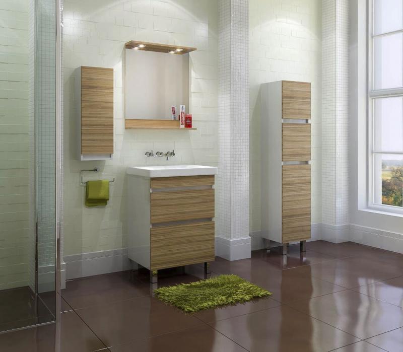 Modesto 600 Mds600.91 Белая/КокоболоМебель для ванной<br>Тумба с раковиной Valente Modesto 600 Mds600.91<br>