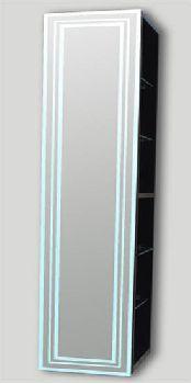 Eletto Elt 250 Ме(Г) Белый глянецМебель для ванной<br>Шкаф-пенал Valente Eletto Elt 250 Ме(Г) С зеркальным фасадом, подсветкой и стеклополками.<br>