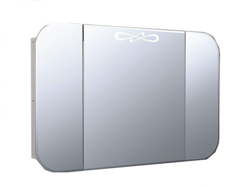 Musa Ms900.12  БелоеМебель для ванной<br>Зеркальный шкаф с подсветкой Valente Musa Ms900.12<br>