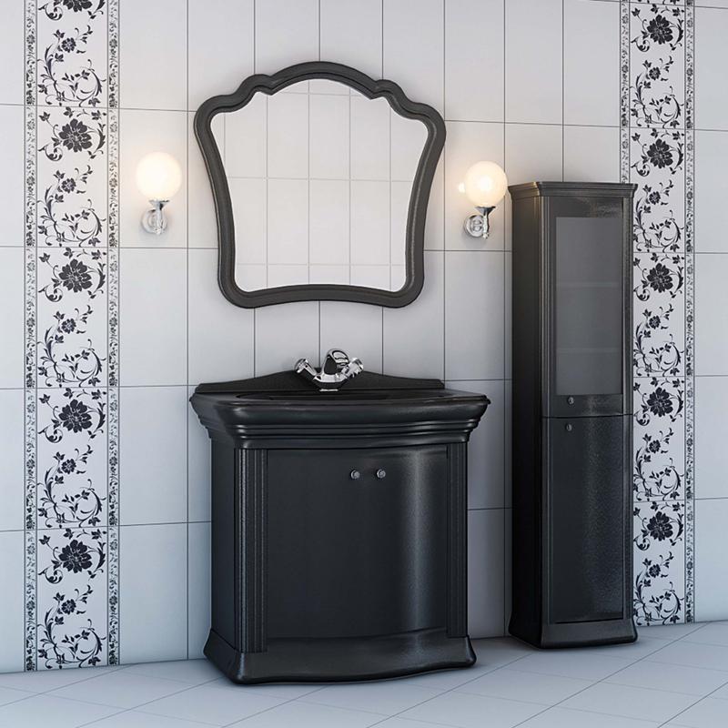 Requerdo R2.91 Раковина - черный глянецМебель для ванной<br>Тумба с раковиной Valente Requerdo R2.91<br>