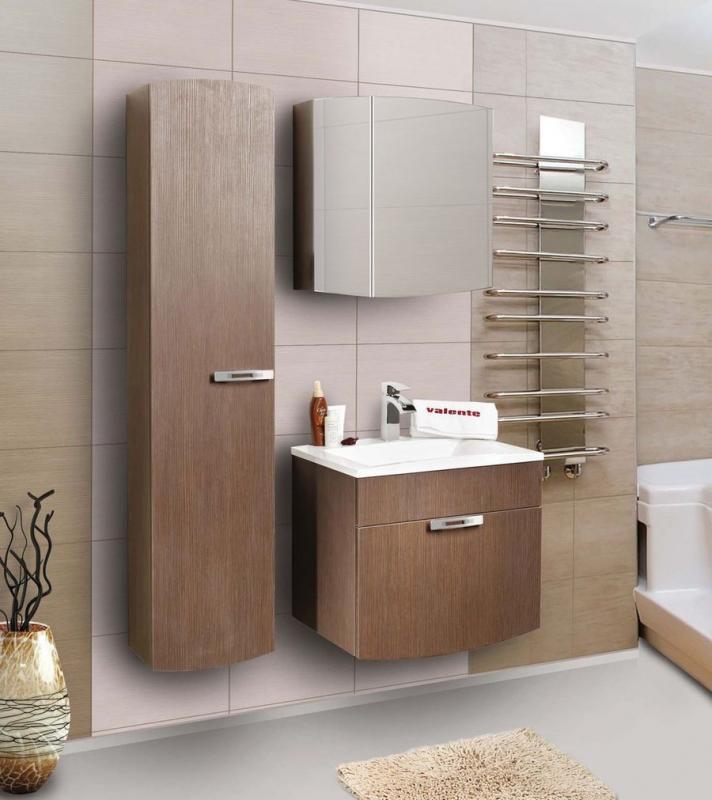 Inizio In650.91 Коричневый глянецМебель для ванной<br>Тумба с выдвижным ящиком и раковиной Valente Inizio In650.91<br>