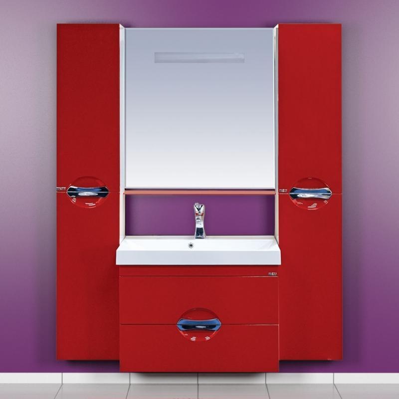 Жасмин-75 Бежевая эмальМебель для ванной<br>Тумба под раковину подвесная Misty Жасмин-75 с 2 ящиками в комплекте с раковиной. Цвет бежевая эмаль.<br>
