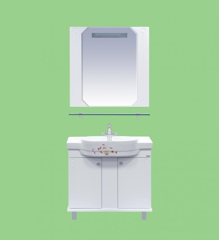 Виола-73 БелаяМебель для ванной<br>Тумба прямая Misty Виола-73 с раковиной в комплекте. Цвет белый.<br>