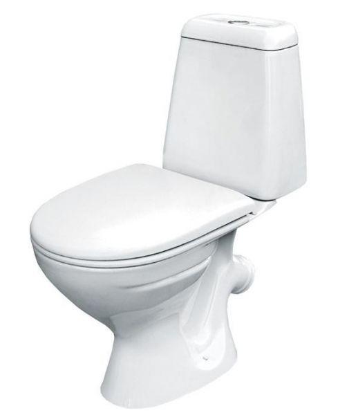 Hit S-KO-HIT-ST-P-w (600163) БелыйУнитазы<br>Унитаз-компакт Cersanit Hit S-KO-HIT-ST-P-w (600163) с косым сливом. Цена указана за чашу унитаза с бачком с нижним подводом воды и крышкой-сиденьем из полипропилена.<br>