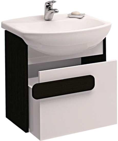 Piano 42 подвесная Венге/БелаяМебель для ванной<br>Тумба под раковину Cersanit Piano N-SZ-PIA-CE50 (21501).<br>