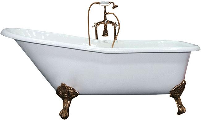 Schale Аntique Белая. Ножки - антикВанны<br>Elegansa Schale Аntique - ванна чугунная,отдельно стоящая, овальная. Латунные ножки – 4 шт. 4 слоя износостойкой эмали. Бесшумна, глушит передачу звука при наполнении. Белоснежное и идеально ровное покрытие эмали. Антискользящее покрытие. Толщина эмали – 3 мм. Смеситель в комплект не входит.<br>