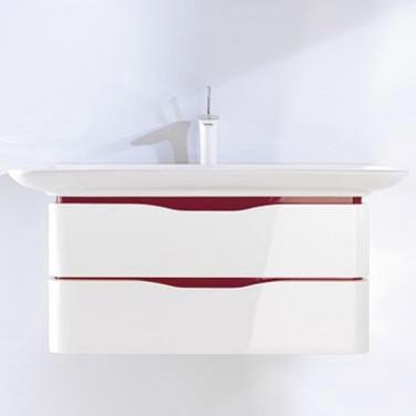 PuraVida 6767 85 59 Белая/ebonyМебель для ванной<br>Тумба Duravit PuraVida 6767 85 59 под раковину Duravit PuraVida 0371100000. Фронт - белый глянцевый. Вставки для ручек - ebony.<br>