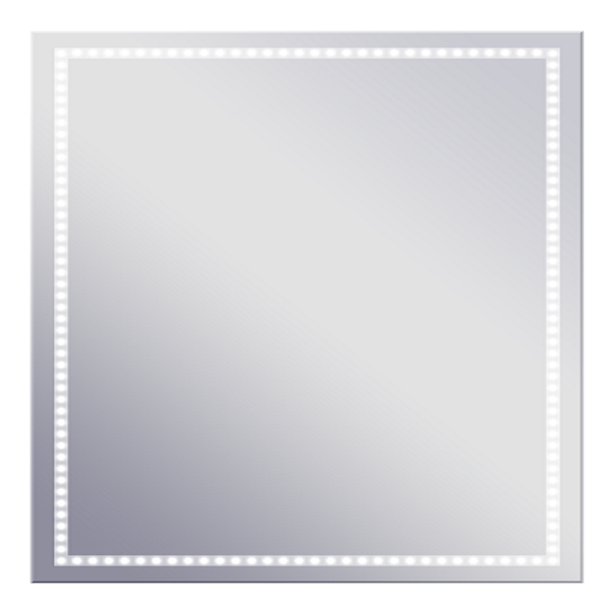 Volano PS 665x665 ХромМебель для ванной<br>Dubiel Vitrum Volano PS 665x665 серебряное зеркало для ванной комнаты.  В алюминиевом корпусе, с системой защиты IP54 - от пыли и водяных брызг и периметральной LED подсветкой. С сенсорным или концевым переключателем.<br>