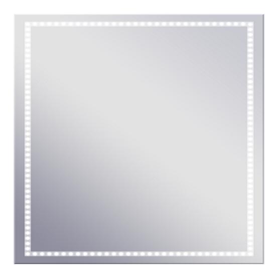 Volano 665х665 ХромМебель дл ванной<br>Dubiel Vitrum Volano 665х665 серебрное зеркало дл ванной комнаты, <br>с боковым точечным сенсорным переклчателем. В алминиевом корпусе IP54, с периметральной LED подсветкой.<br>