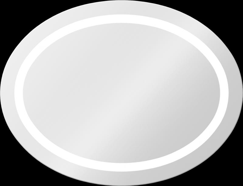 Dione 850х650 ХромМебель для ванной<br>Dubiel Vitrum Dione 850х650 серебряное зеркало для ванной комнаты. <br>Овальное, LED  подсветка вдоль матовой окружной обводки. Корпус и рама зеркала выполнены в системе Hicover (с использованием элементов спецпластика). Крепления (крюки) вмонтированы с задней стороны для вертикального или горизонтального размещения.<br>