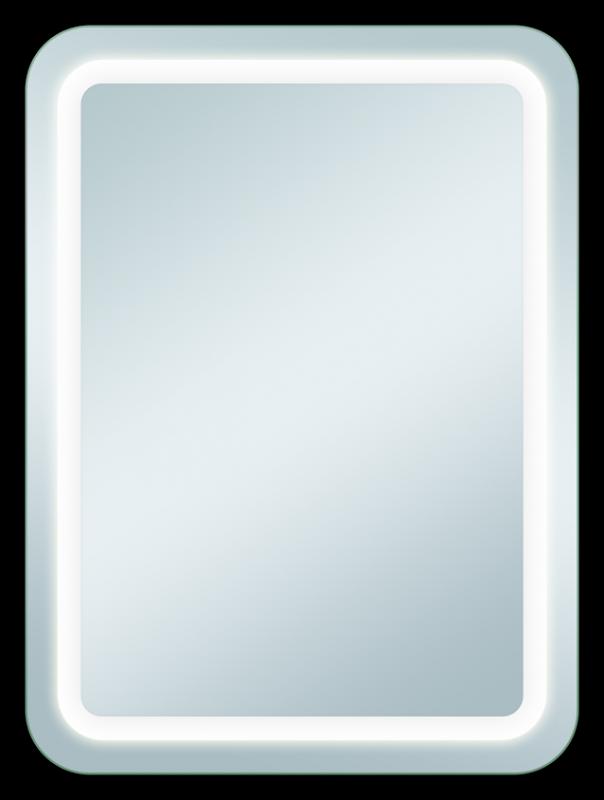 Perfekt 600х800 ХромМебель для ванной<br>Dubiel Vitrum  Perfekt 600х800 серебряное зеркало для ванной комнаты. С закруглёнными углами, LED подсветка вдоль матовой периметральной обводки. Корпус и рама зеркала выполнены в системе Hicover (с использованием элементов спецпластика). Крепления (крюки) вмонтированы с задней стороны для вертикального или горизонтального размещения.<br>