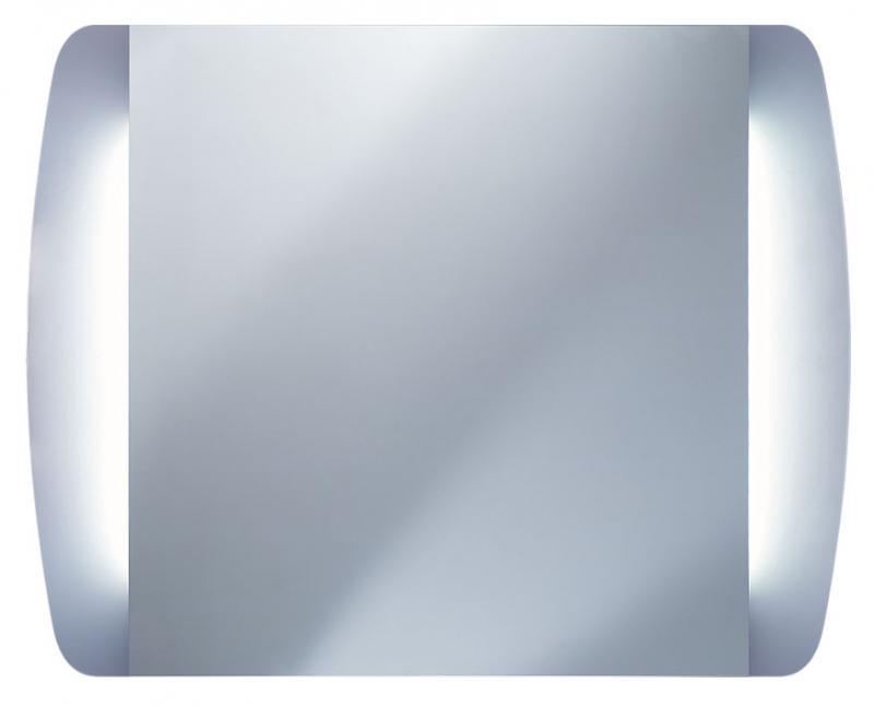 Alba 850х680 ХромМебель для ванной<br>Dubiel Vitrum Alba 850х680 серебряное зеркало для ванной комнаты. <br>С двумя широкими вертикальными планками декор мороз, подсвеченными с задней стороны набором флуоресцентых ламп. С рамой для подсветки с задней стороны зеркала.<br>