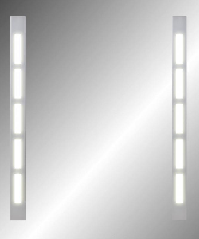Piano 500х600 ХромМебель для ванной<br>Dubiel Vitrum Piano 500х600 серебряное зеркало для ванной комнаты. <br>С вертикальными планками декор мороз, с задней подсветкой из флуоресцентных лампочек, с орнаментом прямоугольник на планках. С рамой для подсветки с задней стороны зеркала.<br>