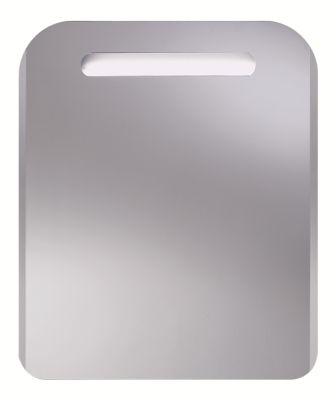 Luna 550x650 ХромМебель для ванной<br>Dubiel Vitrum Luna 550x650 серебряное зеркало для ванной комнаты. <br>С закруглёнными уголками со скосом вдоль вертикальных сторон и одной планкой декор мороз, подсвеченной с задней стороны набором из флуоресцентных ламп. С рамой для подсветки   с задней стороны зеркала.<br>