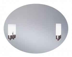 Caso 600х800 ХромМебель для ванной<br>Dubiel Vitrum Caso 600х800 серебряное зеркало для ванной комнаты. С подсветкой двумя лампами-бра. С рамой для подсветки с задней стороны зеркала.<br>