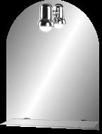 PR 500х650  ХромМебель для ванной<br>Dubiel Vitrum PR 500х650 серебряное зеркало для ванной комнаты. <br>С дугообразным верхом с одной лампой. С рамой для подсветки с задней стороны зеркала.<br>