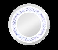 Spectum Uran 700х700 ХромМебель для ванной<br>Dubiel Vitrum Spectum Uran 700х700 серебряное зеркало для ванной комнаты. С широкой перстеобразной подсветкой  LED. Рисунок в виде печатного изображения нанесён на поверхность зеркала. Корпус и рама зеркала выполнены в системе Mcover (с использованием элементов углепластика).<br>