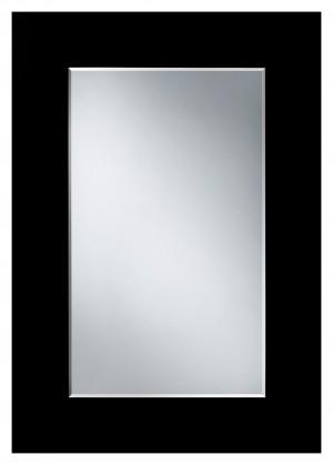 Ferro Black 550х790 ЧерноеМебель для ванной<br>Dubiel Vitrum Ferro Black 550х790 серебряное зеркало для ванной комнаты, <br>с вмонтированными креплениями (крюками). С рамой из чёрного окрашенного зеркального полотна.<br>