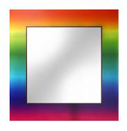 Tesza 650х650 ЦветноеМебель для ванной<br>Dubiel Vitrum Tesza 650х650  серебряное квадратное зеркало для ванной комнаты.  С окантовкой в виде печатного изображения.Печать нанесена прямо на стекло с помощью ультрафиолета.<br>