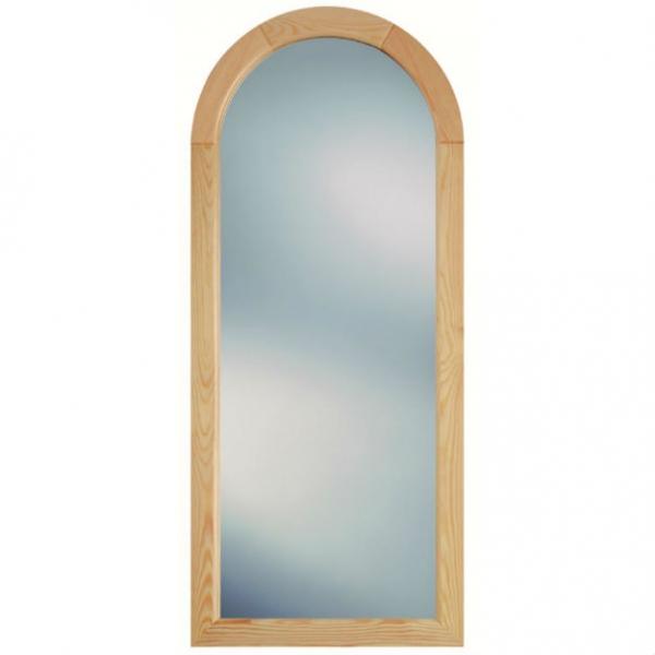 DR AJ 460х1050  Светлая соснаМебель для ванной<br>Dubiel Vitrum  DR AJ 460х1050 серебряное зеркало для ванной комнаты. С дугообразным верхом. Крепления (крюки) приклеены к задней стороне зеркала. В <br>раме деревянной из светлой сосны (ширина 5 см, глубина 2 см).<br>