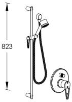 G0BA0751 CRL (Хром)Душевые гарнитуры<br>Душевая гарнитура для ванны/душа FRAME G0BA0751 CRL встраиваемый в стену, с душевым комплектом и декоративной накладкой. Цвет: хром.<br>