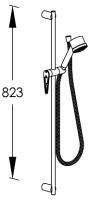 G0BA0771 INX (Матовый никель)Душевые гарнитуры<br>Душевой комплект FRAME G0BA0771 INX для настенного смесителя. Цвет: матовый никель.<br>