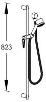 G0BA0772 CRL (Хром)Душевые гарнитуры<br>Душевой комплект FRAME G0BA0772 CRL для смесителя встраиваемого в стену. Цвет: хром.<br>