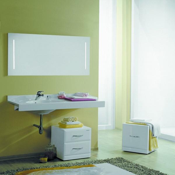 Отель 3/1200 LМебель для ванной<br>Акватон 1A70093NOT01L Отель 3/1200. Стоимость указанна за левую раковину. Пуфики, навесы, зеркало и выкатная тумба приобретаются отдельно.<br>