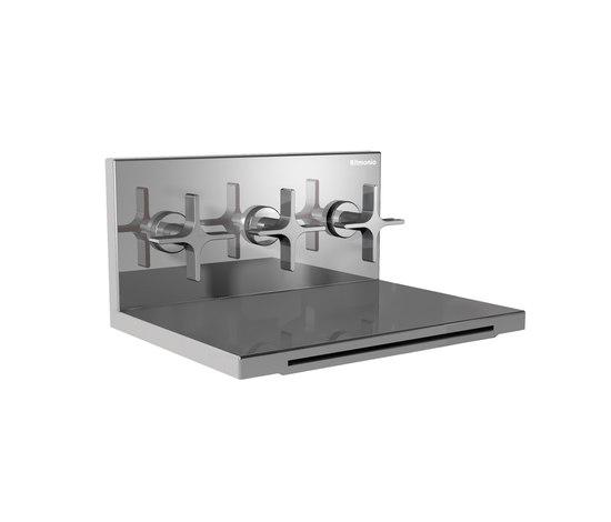 HOBA1030 INX (Матовый никель)Смесители<br>Смеситель для ванны/душа WATERBLADE HOBA1030 INX встраиваемый в стену - излив 160мм. Цвет: матовый никель.<br>