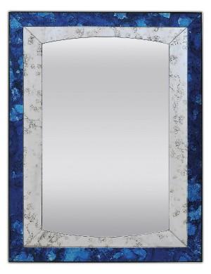 Spectum Kantata Zafiro 700х1200 СапфирМебель для ванной<br>Dubiel Vitrum Spectum Kantata Zafiro 700х1200 серебряное зеркало для ванной комнаты. В декоративной античной раме из точно вырезанных и отполированных фрагментов уникальных античных зеркал сапфирового цвета.<br>