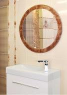 Urania 840х840 СапфирМебель для ванной<br>Dubiel Vitrum Spectum Urania 840х840 круглое серебряное зеркало для ванной комнаты. В раме из стекла синего цвета.<br>