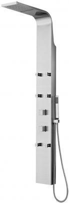 ML7005  ХромДушевые панели<br>Kanggu ML7005 душевая колонка, с шестью гидромассажными форсунками. Душ на три вида струи: тропический дождь, водопад, ручная лейка. Дизайн - Hi-tech/мягкая волна.<br>
