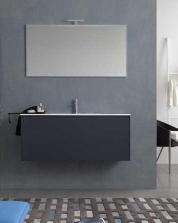 Light G116 подвесная Noce ScuroМебель для ванной<br>Novello Light G116  набор мебели для ванной комнаты. В комплекте: тумба подвесная с керамической раковиной G116, зеркало E374, светильник V861.  Столешница выполнена из материала Novcryl, обеспечивающего превосходную механическую и химическую стойкость и легкую чистку.<br>