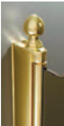 Spitze ЗолотоАксессуары для ванной<br>Декоративный наконечник Sturm Spitze для профиля ограждений.<br>