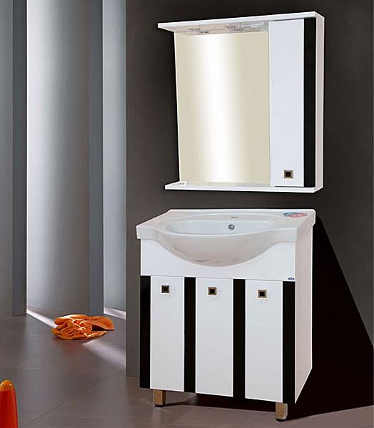 Палермо-70 КраснаяМебель для ванной<br>Тумба под раковину Misty Палермо-70 прямая с бельевой корзиной в комплекте с раковиной. Цвет красный.<br>