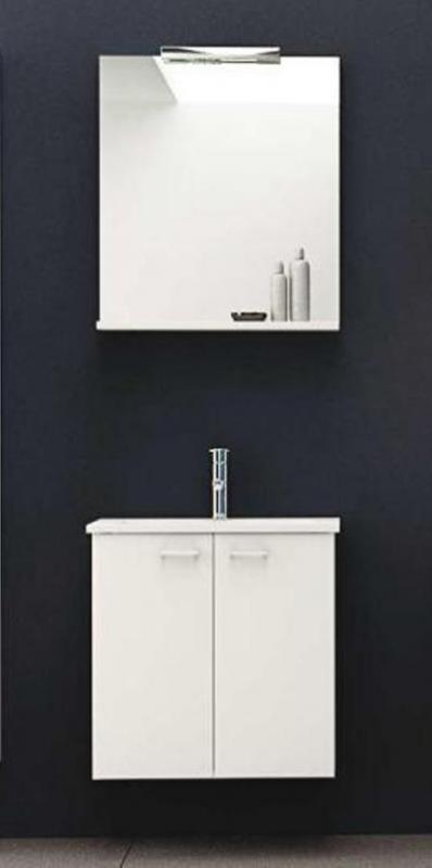 Pixor 61 БелаяМебель для ванной<br>Тумба подвесная Kolpa San Pixor 61. В комплект входят непосредственно тумба, а также керамическая раковина и зеркало. Цвет белый.<br>