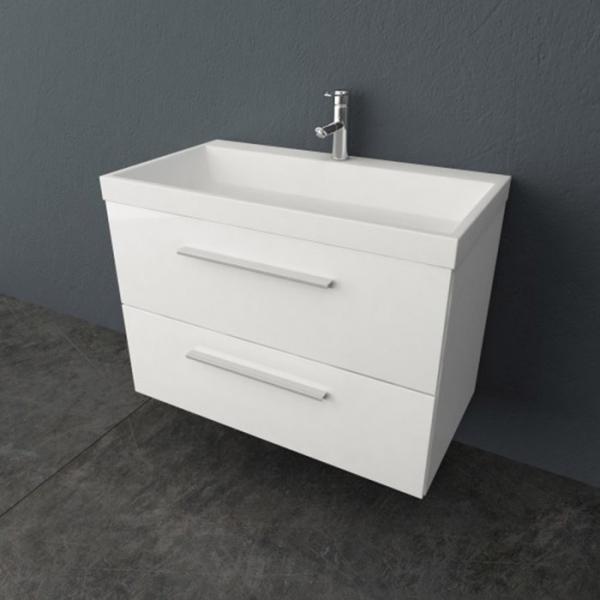 Jolie 90 OUJ 90 WHМебель для ванной<br>Подвесная тумба Kolpa San Jolie 90 с раковиной из литого мрамора. Цвет белый.<br>
