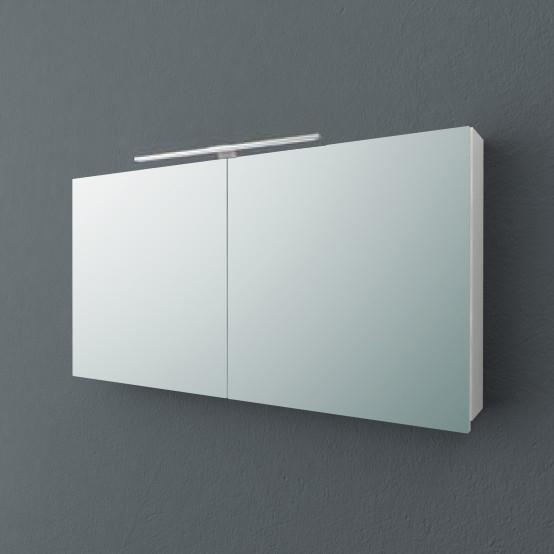 Jolie TOJ 120 БелыйМебель для ванной<br>Зеркальный шкаф подвесной Kolpa San Jolie 120 со встроенной подсветкой.<br>