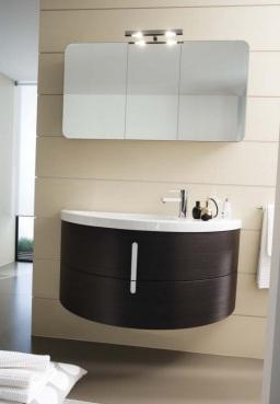 Moon 105 Bianco LucidiМебель для ванной<br>Зеркало с двумя светильниками Idea Group Moon 105. Цвет Bianco Lucidi.<br>